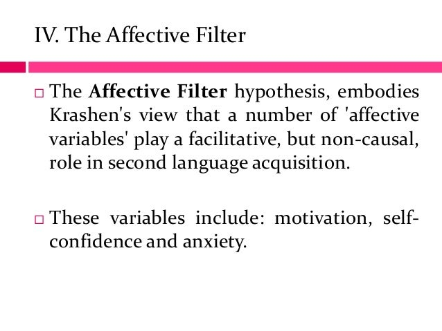 krashen s theory Krashen's five hypotheses the natural order hypothesis 'we acquire the rules of language in a predictable order'.
