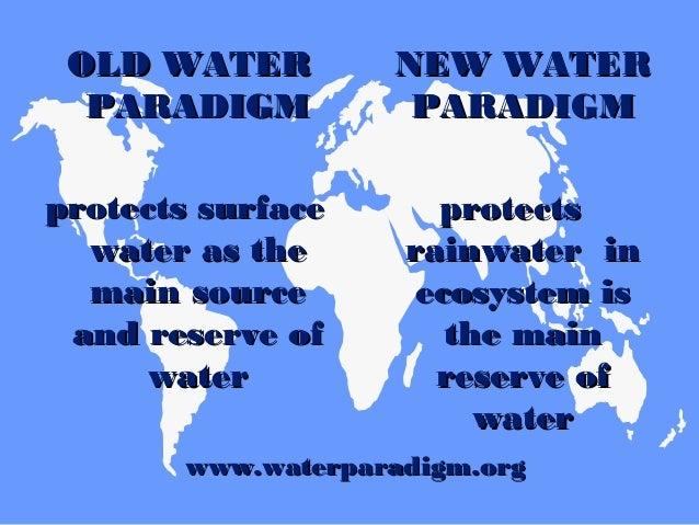 OLD WATEROLD WATER PARADIGMPARADIGM soil sealing hassoil sealing has minimalminimal influence oninfluence on climate chang...
