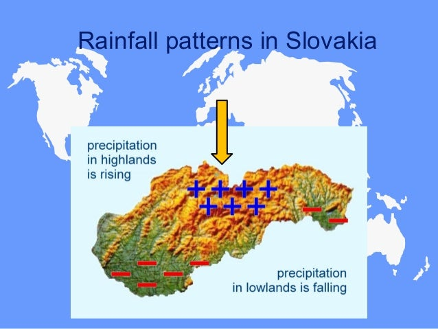 Rainfall patterns in Slovakia