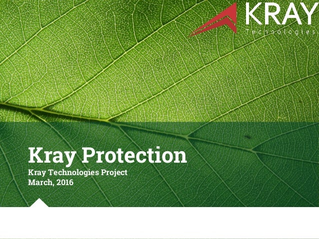 Kray Protection Kray Technologies Project March, 2016