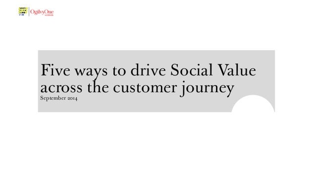 Five ways to drive Social Value  across the customer journey September 2014