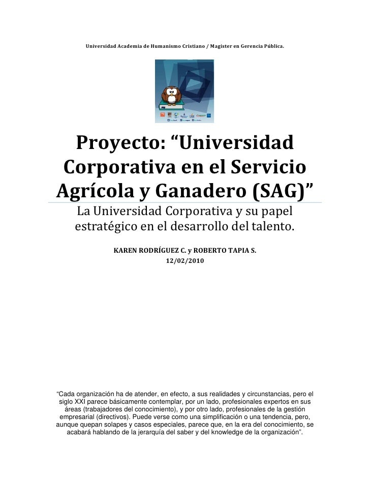 "UniversidadAcademiadeHumanismoCristiano/MagisterenGerenciaPública.           Proyecto:""Univer..."