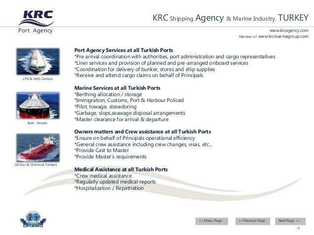 KRC Shipping Agency TURKEY