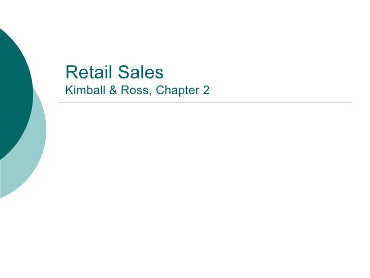 Retail Sales Kimball & Ross, Chapter 2