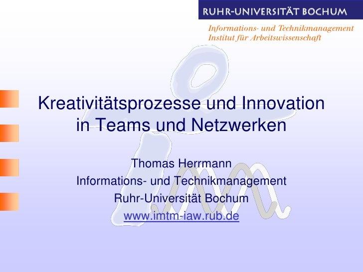 RUHR-UNIVERsITÄT BOCHUM                          Informations- und Technikmanagement                          Institut für...