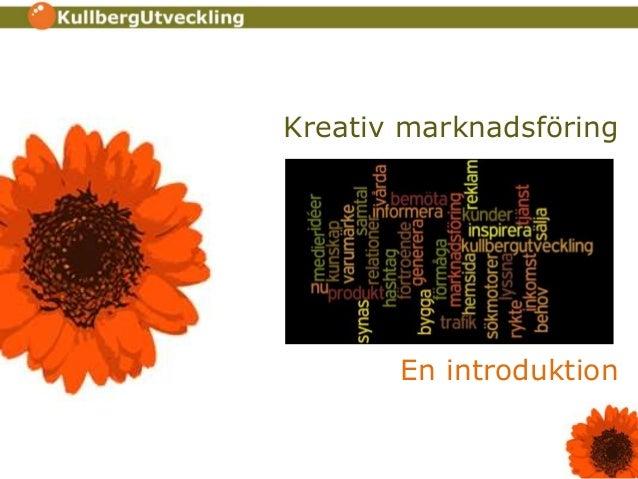 Kreativ marknadsföring En introduktion