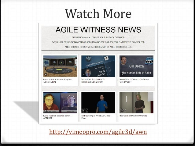 Watch More http://vimeopro.com/agile3d/awn