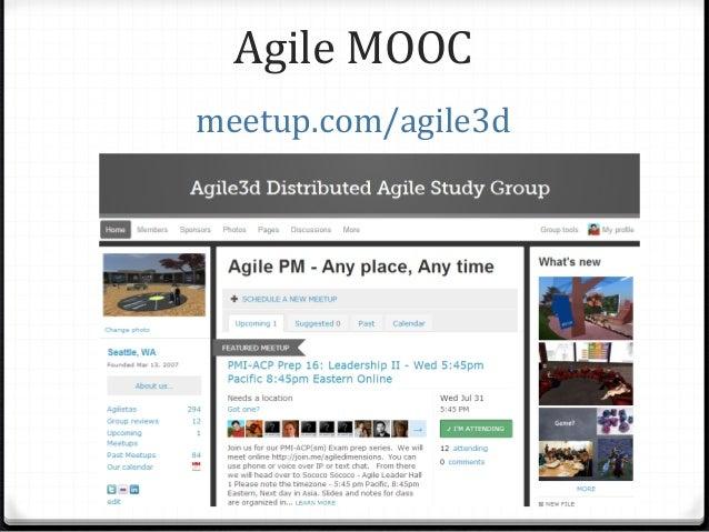 Agile MOOC meetup.com/agile3d