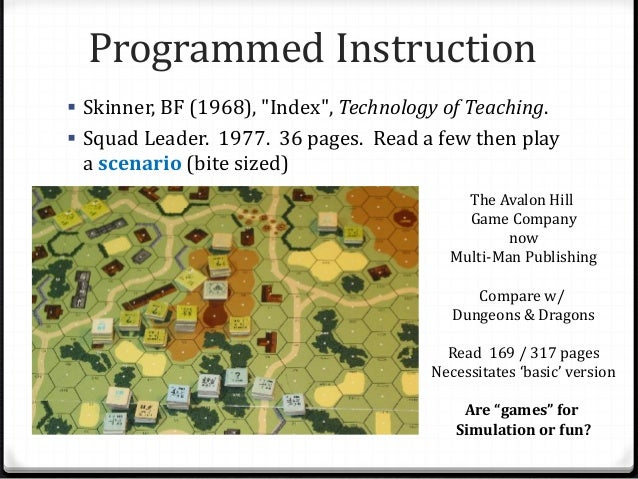 """Programmed Instruction  Skinner, BF (1968), """"Index"""", Technology of Teaching.  Squad Leader. 1977. 36 pages. Read a few t..."""