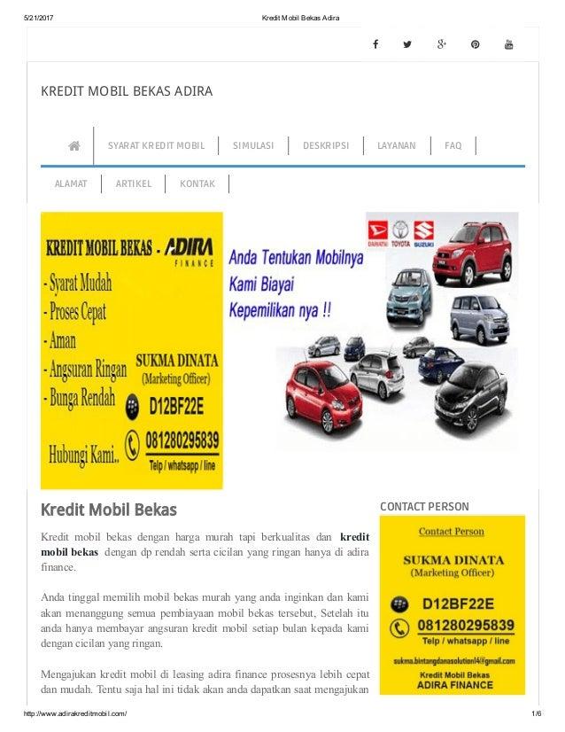 Kredit Mobil Bekas Adira
