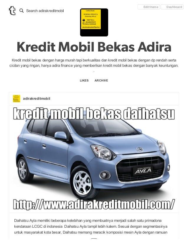 Kredit Mobil Bekas Daihatsu