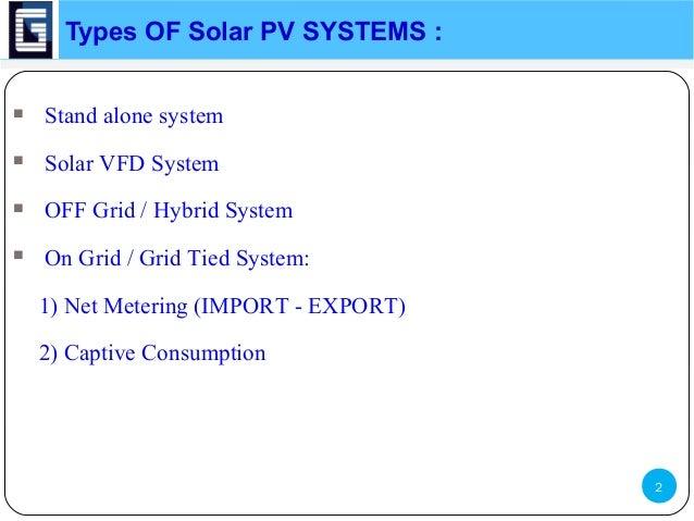 Pv System Solar Pv System Notes