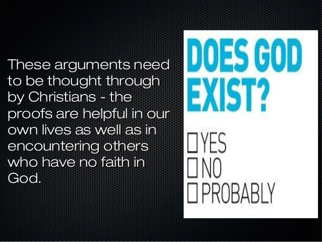 Question The existence of God