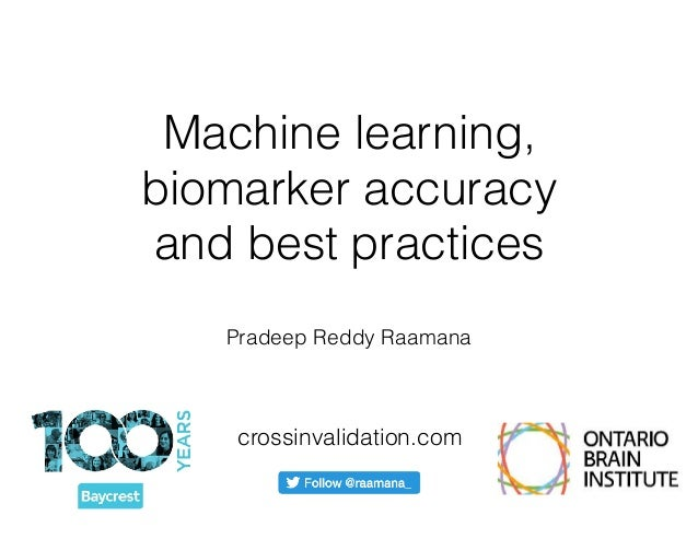 Machine learning, biomarker accuracy 
