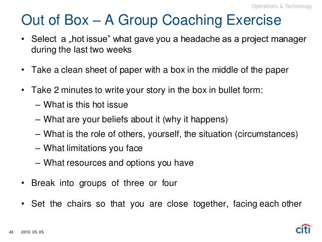 Leverage the power of coaching in your projects 43 out of box publicscrutiny Images
