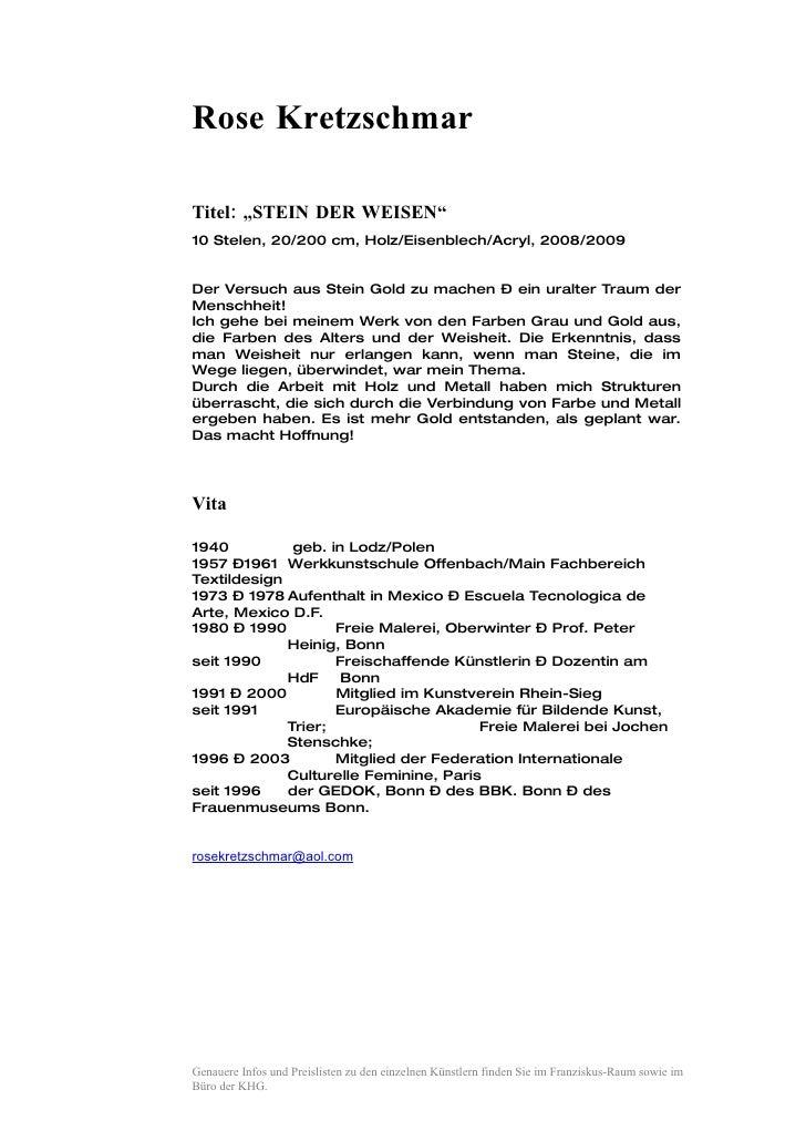 """Rose Kretzschmar  Titel: """"STEIN DER WEISEN"""" 10 Stelen, 20/200 cm, Holz/Eisenblech/Acryl, 2008/2009   Der Versuch aus Stein..."""