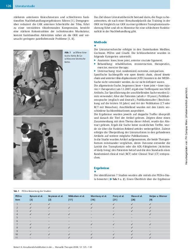 Kreuzbandrehabilitation Slide 2
