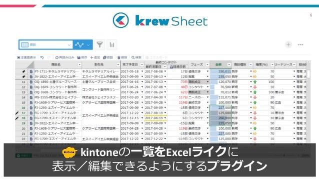 6 kintoneの一覧をExcelライクに 表示/編集できるようにするプラグイン