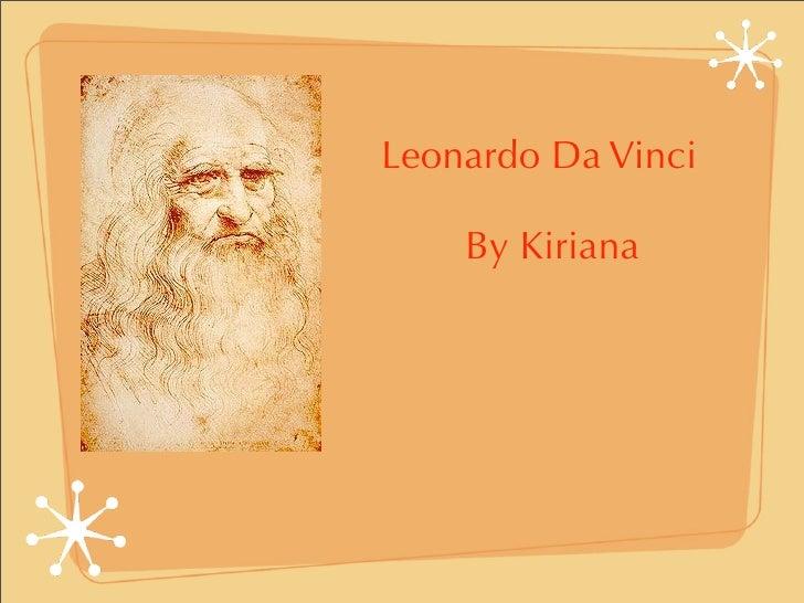 Leonardo Da Vinci      By Kiriana