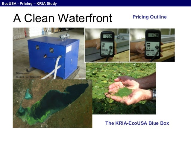 EcoUSA - Pricing – KRIA Study     A Clean Waterfront                   Pricing Outline                                The ...