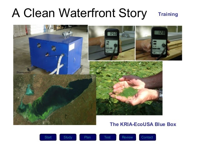 A Clean Waterfront Story                              Training                               The KRIA-EcoUSA Blue Box     ...