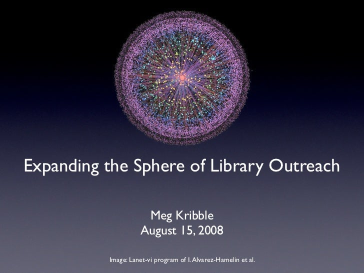 Expanding the Sphere of Library Outreach                        Meg Kribble                      August 15, 2008          ...