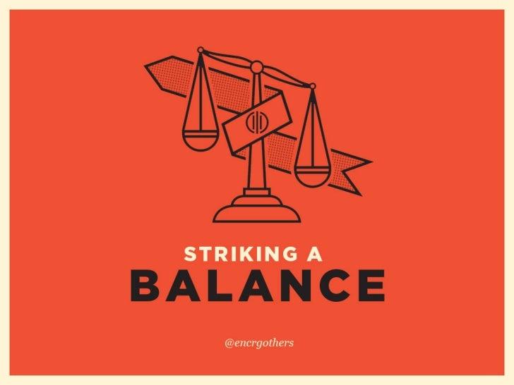 Striking a Balance- Kevin Richardson