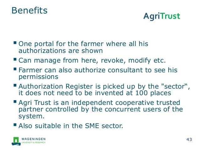 Data Governance in agriculture