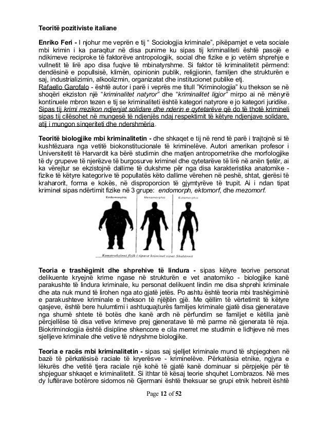 """Teoritë pozitiviste italianeEnriko Feri - I njohur me veprën e tij """" Sociologjia kriminale"""", pikëpamjet e veta socialembi ..."""