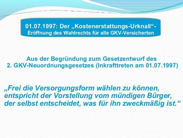 Dr. Lothar Krimmel : GKV-Kostenerstattung - Chancen und Hindernisse Slide 3