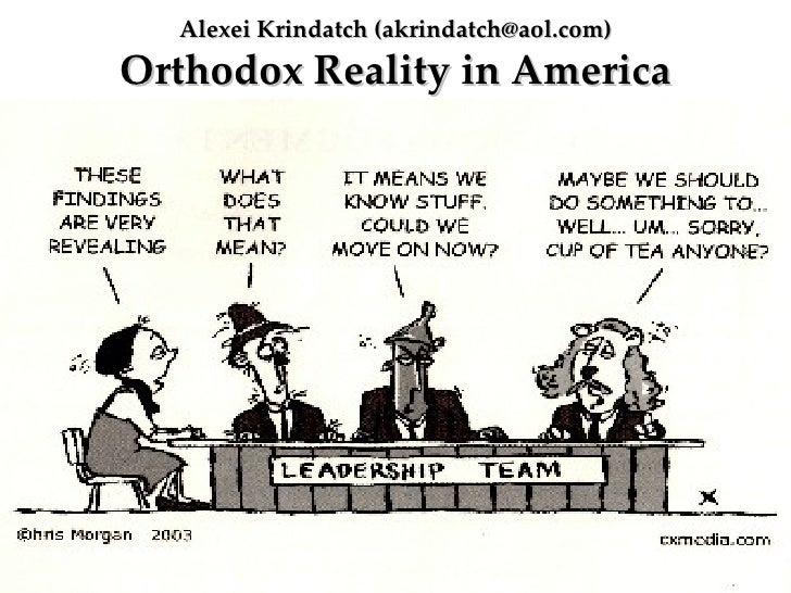 Alexei Krindatch (akrindatch@aol.com)Orthodox Reality in America