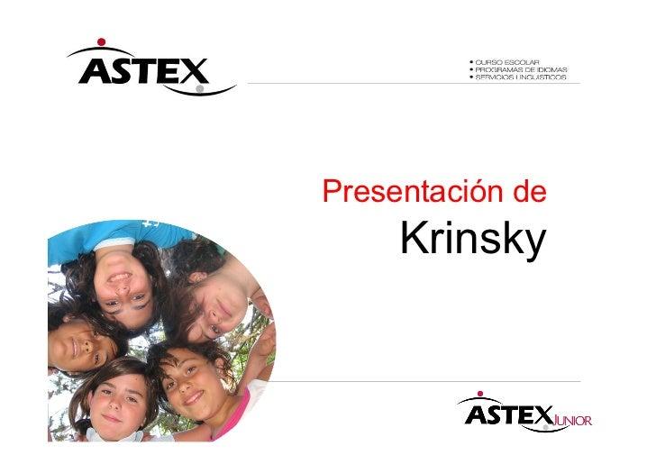 Presentación de     Krinsky