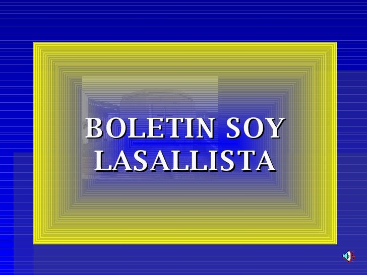 BOLETIN SOY LASALLISTA