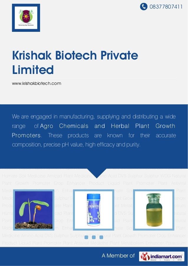 08377807411A Member ofKrishak Biotech PrivateLimitedwww.krishakbiotech.comNatural Plant Growth Promoter Crop Enhancer Prod...