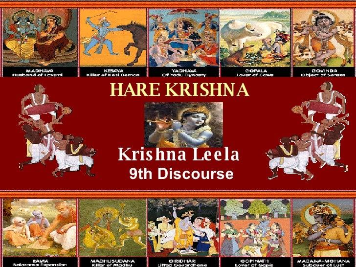 Krishna Leela 9th Discourse HARE KRISHNA