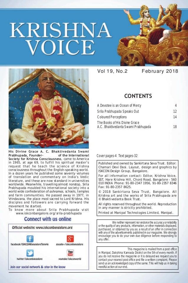 Krishna voice-february-2018