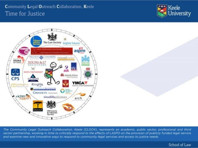 """Research, Education and Innovation: Community Legal Outreach Collaboration, Keele (CLOCK): """"The Community Legal Companion"""""""