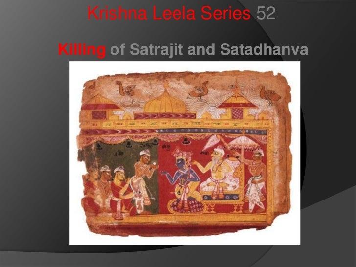 Krishna Leela Series 52<br />Killing of Satrajit and Satadhanva<br />