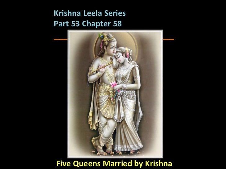 Five Queens Married by Krishna Krishna Leela Series  Part 53 Chapter 58 ________________________