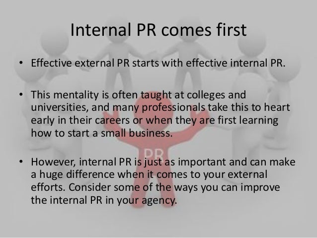 Importance of internal public relations