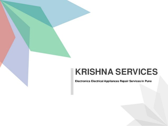 Electronics Electrical Appliances Repair Services in Pune KRISHNA SERVICES