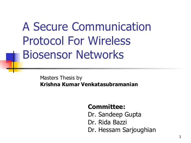 Master thesis networking
