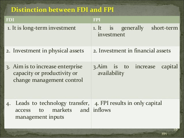 Foreign portfolio investment vs foreign direct investment ckrk investments for dummies
