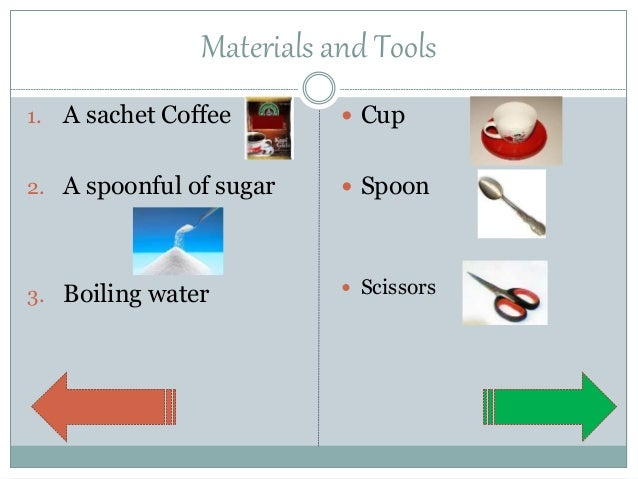 how to make a cup of coffee procedure text