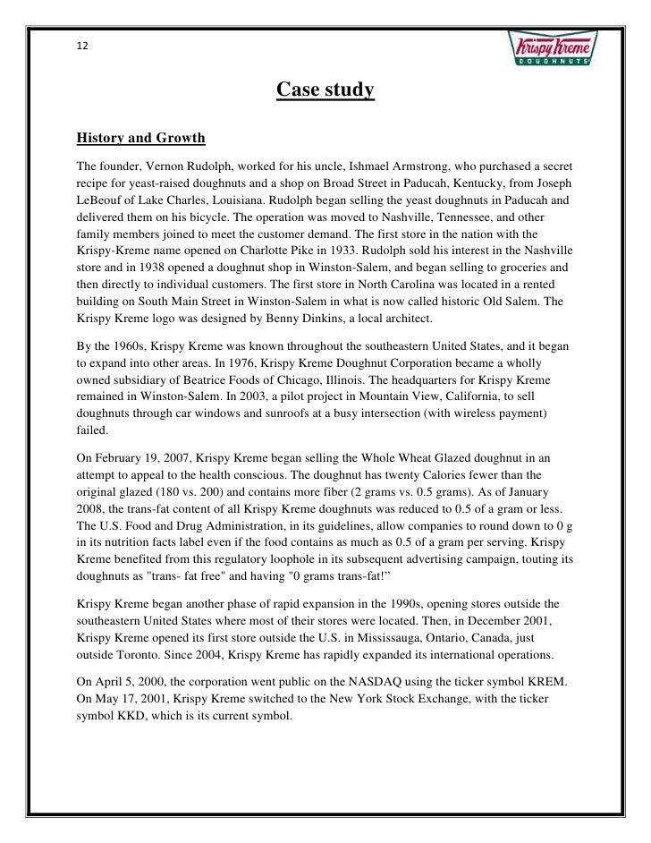 Krispy Cream Case Study Final