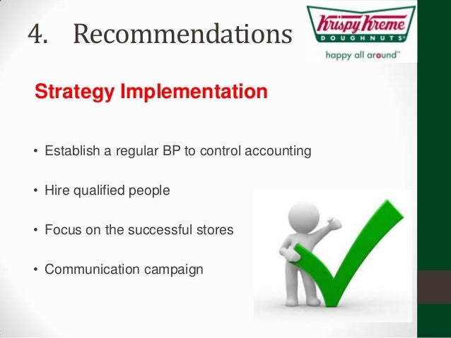 strategy philosophy krispy kreme Krispy kreme has always performed outstandingly in  kreme doughnuts inc strategic plan for krispy kreme doughnuts  but the philosophy.