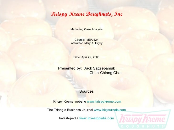 Krispy Kreme Case Notes Essay
