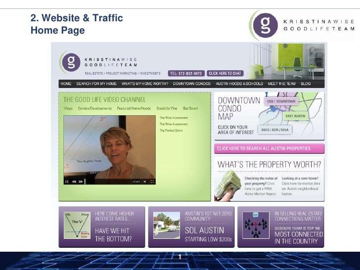 2. Website & TrafficHome Page<br />
