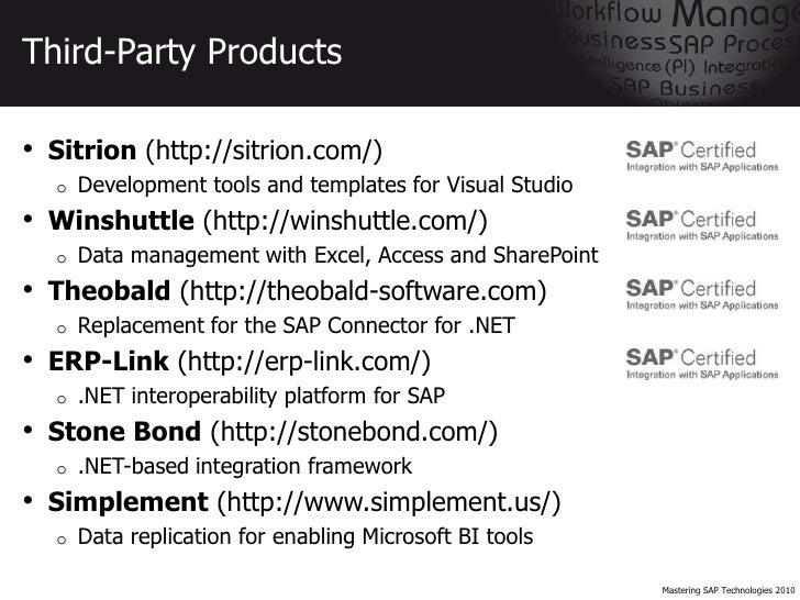 SAP/Microsoft Interoperability Tutorial