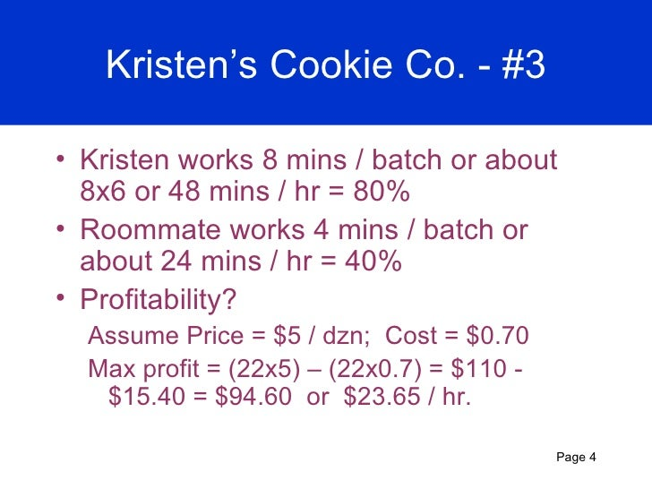 kristens cookie company case study solution